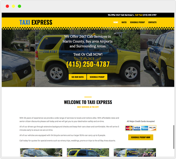 Taxi Express website design