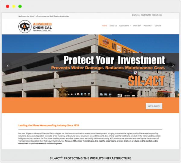 Advanced Chemical Technologies Website Design 2