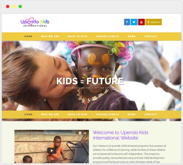 UpendoKids.org Website Design 4